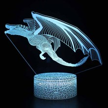 LED Creative Animal Model Lamp Kids Bedroom 3D Illuminated Lamp Touch Night Light With 7 Color Changing Bedside Lights Gift
