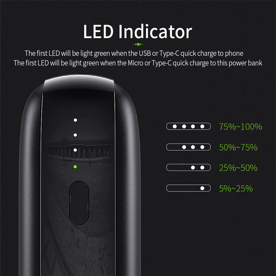 Essager 10000mAh Mini Power Bank 10000 Quick Charge 3.0 Powerbank For iPhone 11 Pro Max USB PD Portable External Battery Charger 5