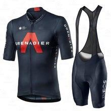 Conjunto de Jersey de ciclismo para hombre, ropa de equipo Ineos granadier 2020, traje de manga corta, uniforme de entrenamiento ligero y transpirable