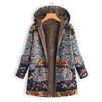 Women Coat Ladies Sweater Hoodie Overcoat Fashion Winter Zipper Ethnic Style