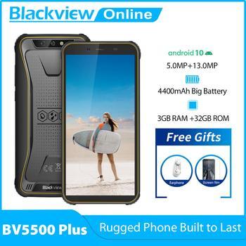 Перейти на Алиэкспресс и купить Blackview BV5500 Plus смартфон с 5,5-дюймовым дисплеем, ОЗУ 3 ГБ, ПЗУ 32 ГБ, 2020 мАч, Android 10,0