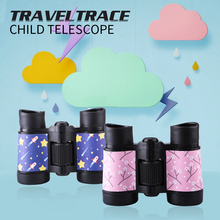 Portable 4x30 Plastic Children Colorful Binoculars Telescope for Kids Outdoor Games Toys Compact  with Free Gift