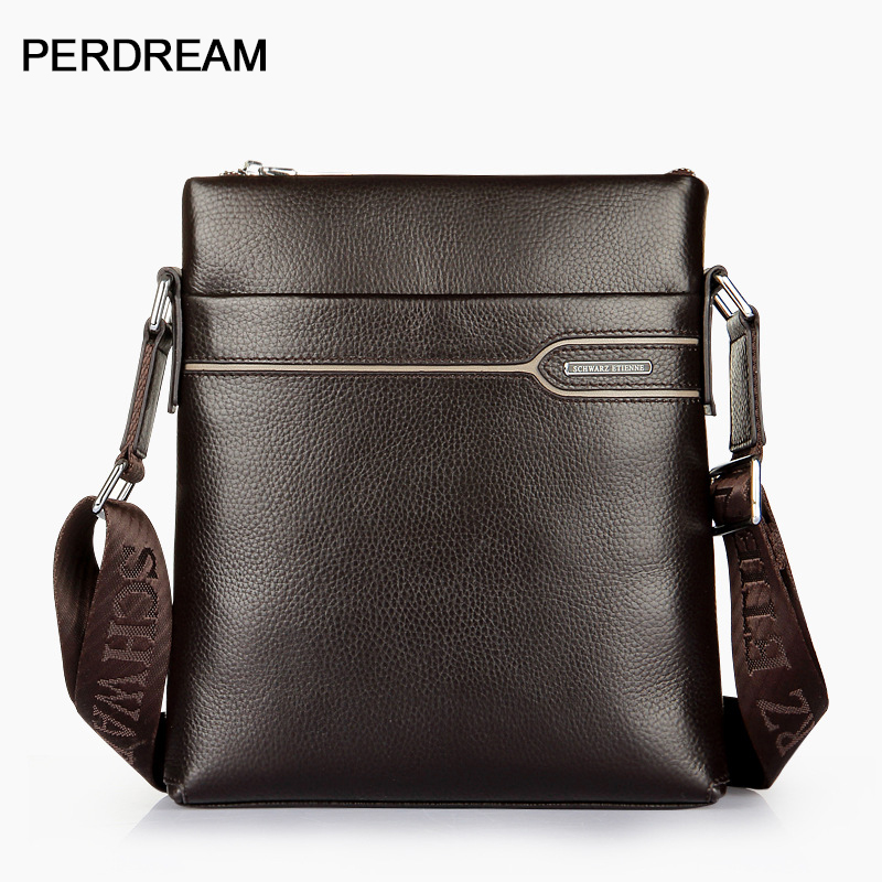 Men's Bag Leather Men's Shoulder Bag Vertical First Layer Leather Crossbody Bag Business Men's Bag