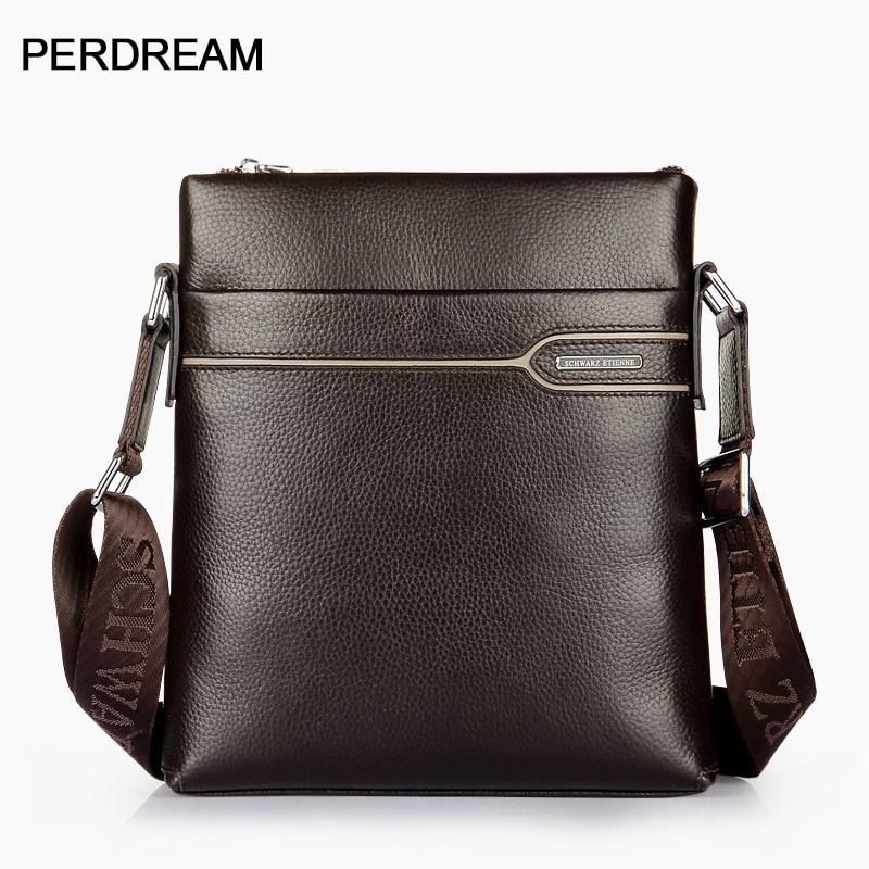 Men's Bag Leather Men's Shoulder Bag Vertical First Layer Leather Crossbody Bag Business Men's Bag