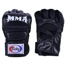 Frisky Боксерские перчатки для мужчин и женщин с полупальцами UFC Sanda боксерские ММА игровые мешки с песком тренировочные боксерские перчатки