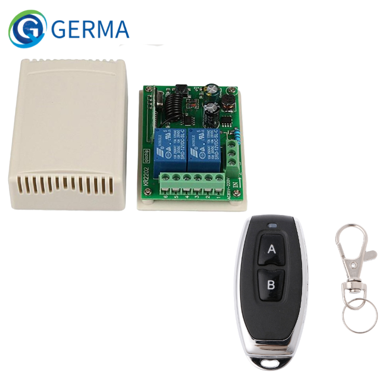 GERMA 433Mhz Universal Wireless Remote Control Switch AC 250V 110V 220V 2CH Relay Receiver Module + RF 433 Mhz Remote Controls