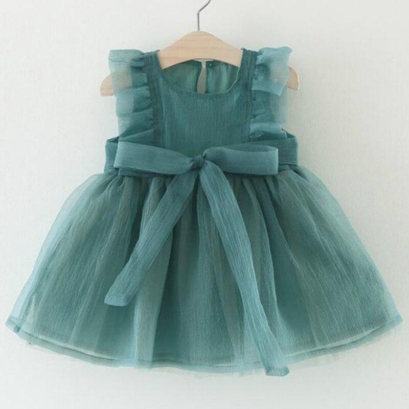 Bebê meninas vestido crianças bebê fantasia aniversário malha vestido infantil sem mangas vestido de festa vestido de bebê verão para 0-3y aniversário menina