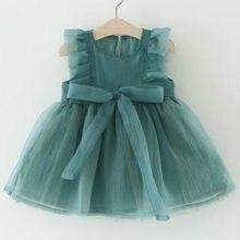 Baby Meisjes Jurk Kids Baby Fancy Verjaardag Mesh Dress Baby Mouwloze Party Dress Baby Jurk Zomer Voor 0-3y Verjaardag Meisje