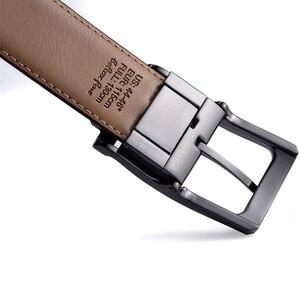 Image 3 - Мужской Реверсивный классический кожаный ремень с вращающейся пряжкой от 85 см до 160 см два в одном от Beltox fine
