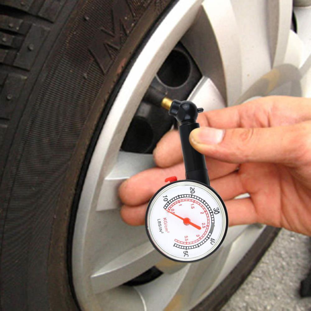 Car Vehicle Motorcycle Dial Tire Gauge Meter Pressure Tyre Measurement Tool