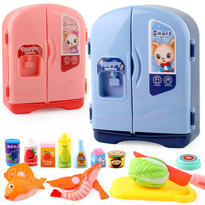 Simulation Refrigerator Food Kitchen Toys for Children Pretend Play Toy Set Kids Play House Girls Toys Gift Furniture Juguetes