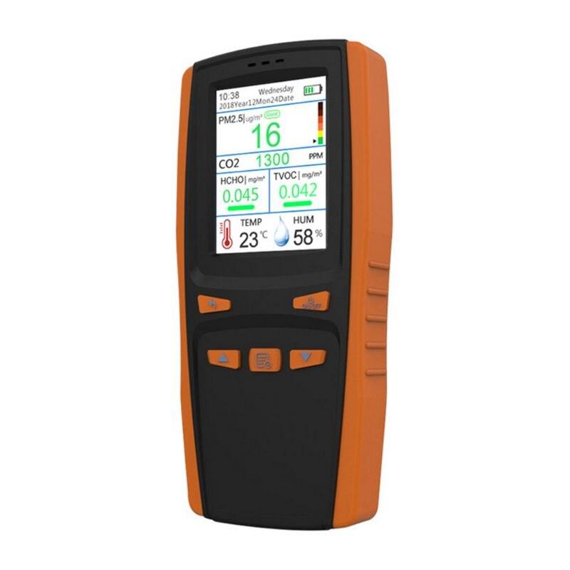 Монитор качества воздуха для частиц PM2.5 PM10 CO2 влажности температуры - 4