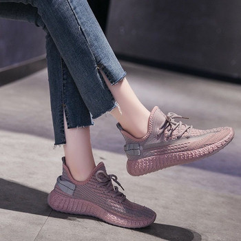 Sneakers Women Shoes Woman Vulcanized Shoes Mesh Lace Up Stretch Fabric Platform Casual Shoes Female Breathable Ladies Flats women canvas shoes lace up casual shoes woman flats white shoes white breathable vulcanized shoes ladies espadrilles