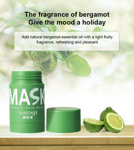 40g chá verde que limpa a máscara sólida que purifica a máscara da argila controle de óleo da vara anti-acne berinjela clareamento dos cuidados com a pele facial tslm2