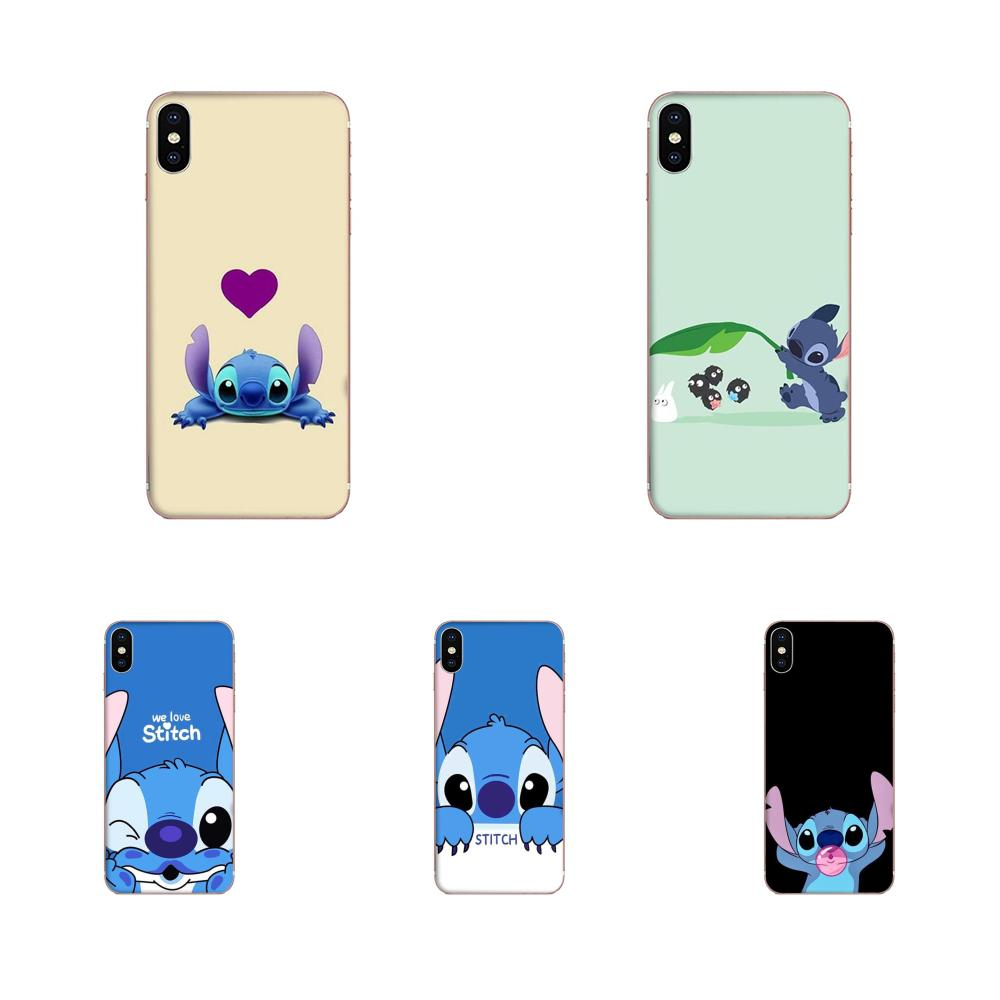 Soft Silicone TPU Transparent Phone Cases Stitch For Samsung Galaxy A51 A71 A81 A90 5G A91 A01 S11 S11E S20 Plus Ultra image