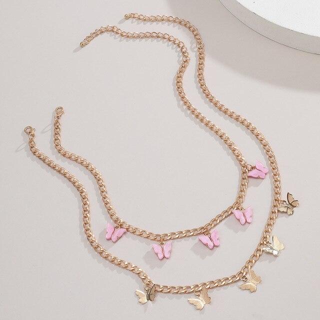 Купить новое модное женское двухслойное ожерелье ретро романтическая картинки цена