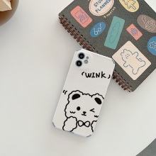 Cartoon Cute Bunny Bear Phone Case for iPhone 11 12pro 12mini Silicone Soft Shell for iPhone 8 XS 7/8Plus Phone Cover Anti-fall