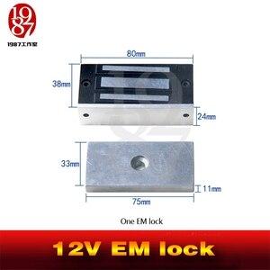 Image 4 - Takagism game prop, Real life room escape props jxkj 1987 12v EM lock installed on the door  electromagnetic lock