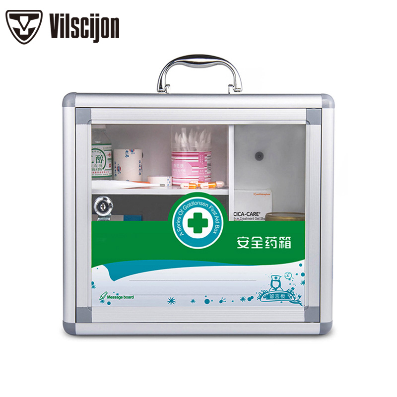 Transparent Medicine Box Wall-mounted Hospital First Aid Kit Storage Aluminum Alloy Safety Service box
