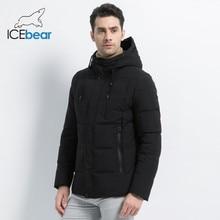 ICEbear 2019 new winter  fashion brand parkas mens jacket simple fashion hooded coat knit cuff design males jackets MWD18926DParkas
