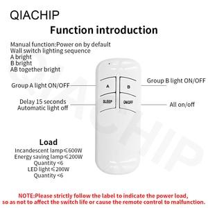 Image 4 - Qachip 1/2/3 Way Relay AC 220V RFรีโมทคอนโทรลไร้สายรีโมทคอนโทรลSwitchพัดลมแผงควบคุมสำหรับหลอดไฟ