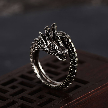 2019 New Hot Chinese Style Dragon Ring For Men Opening Adjustable Retro National Jewelry Domineering Accessories