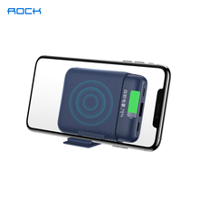 ROCK 10000mAh Qi Wireless Charger Power Bank Desktop phone stand External Battery Powerbank For iPhone11 SE X Samsung Xiaomi 10