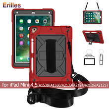 Hand-held Case with Pencil Holder for iPad mini 4 5 Armor Heavy Shockproof PC+Silicone Cover ipad 7.9 Capa Funda