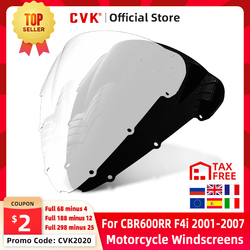 CVK Motorcycle Windshield Spoiler Windscreen Air Wind Deflector For HONDA CBR600F CBR600 F4I 2001 2002 2003 2004 2005 2006 2007