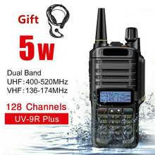 UV-9R Plus Walkie Talkie 15W VHF UHF Two Way Dual Band Radio Walkie Talkie Handheld Waterproof Outdoor Marine Walkie Talkie