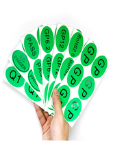 200pcs GP Printed Self-adhesive Stickers European Norm Case Label Custom Environment Green Sticker