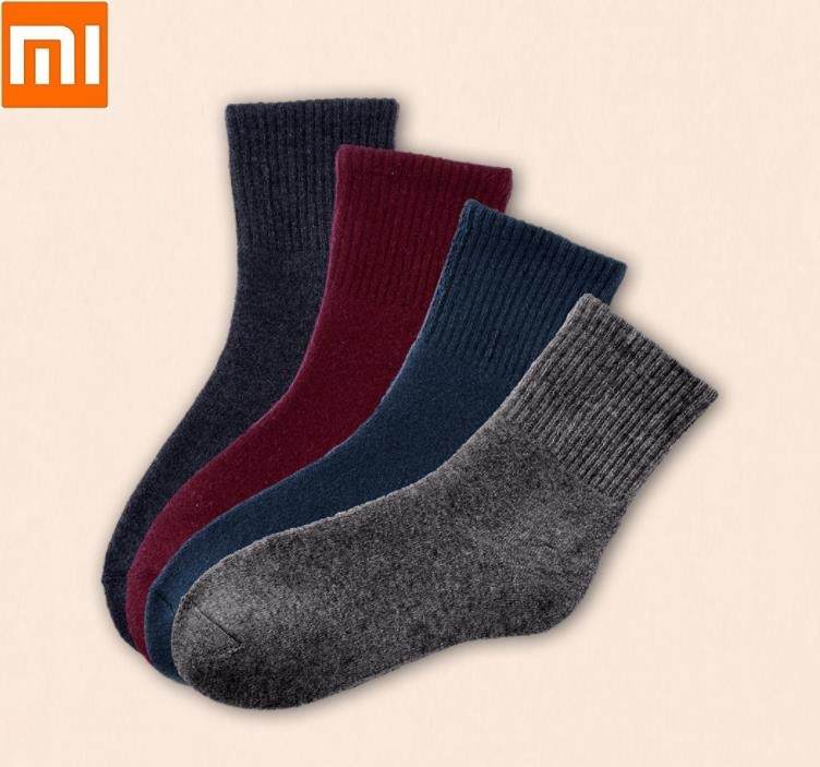 Xiaomi 3 Pairs Men Middle Tube Winter Wool Blend Warm Socks Thick Warm Comfortable Moderate Elasticity