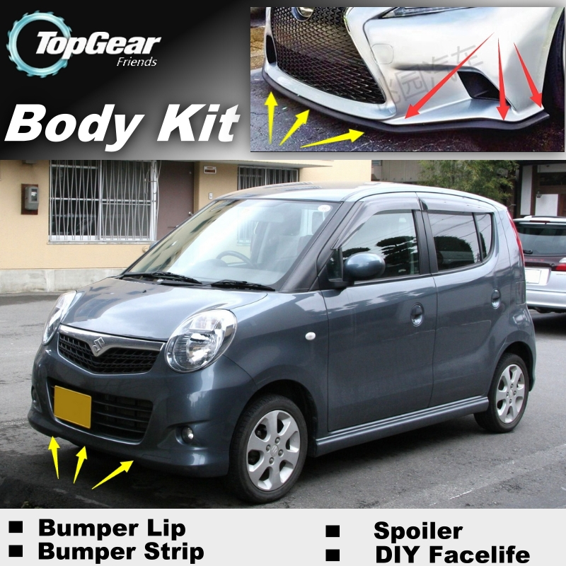 bumper lip labios defletor para suzuki mr wagon karimun estilo carro tuning spoiler dianteiro saia para