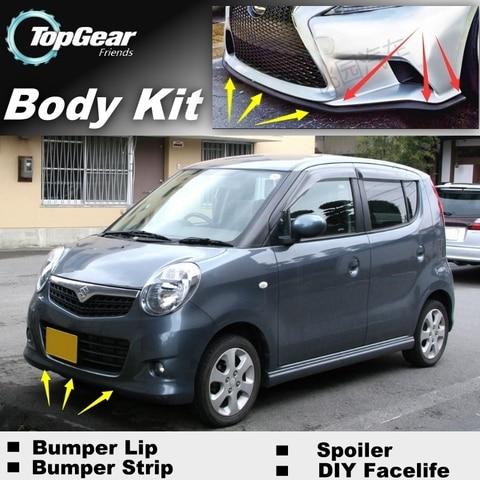 bumper lip labios defletor para suzuki mr wagon karimun estilo carro tuning spoiler dianteiro saia