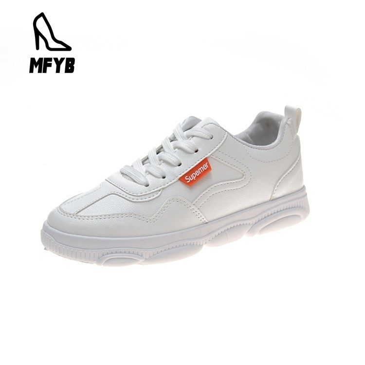 MFYB Women's vulcanized shoes in the autumn of 2019 new bear bottom women's shoes comfortable flat front lace-up sports shoes