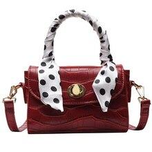 Glossy Temperament Mini Handbag 2019 New Fashion Retro Wild Scarf Shoulder Bag Woman Famous Luxury Brand Messenger Bag цены