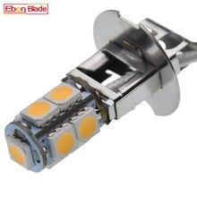 1/2 pièces H3 LED ampoule 5050 9SMD blanc chaud pour voiture Auto brouillard DRL conduite lumière ou lampe de poche Torches lampe frontale PK22S 6 V 6 Volt DC