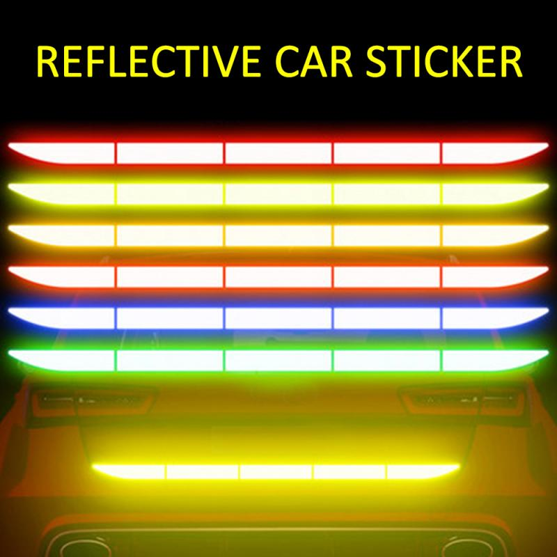 Car Trunk Rreflective Sticker Nano Protective Safety Warning Mark Decoration Bumper Reflection Exterior Car Styling Accessories