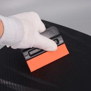 Image 3 - FOSHIO 2/4 قطعة سيارة التفاف تنظيف أداة الكربون الألياف الفينيل الجلد المدبوغ حافة المغناطيسي الممسحة لا للخدش السيارات نافذة تينت ملصق مزيل