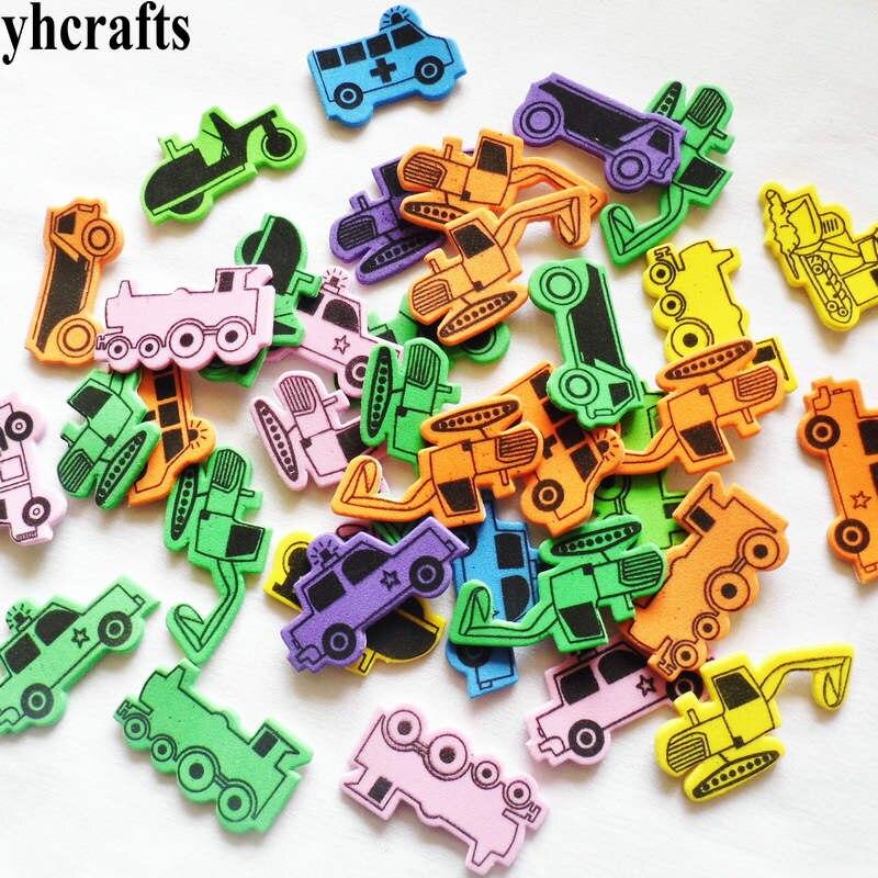 1 упаковка/Партия. Набор для скрапбукинга с изображением животных на ферме. Ранние развивающие игрушки для детского сада художественные поделки игрушки ручной работы howework DIY - Цвет: 50PCS car