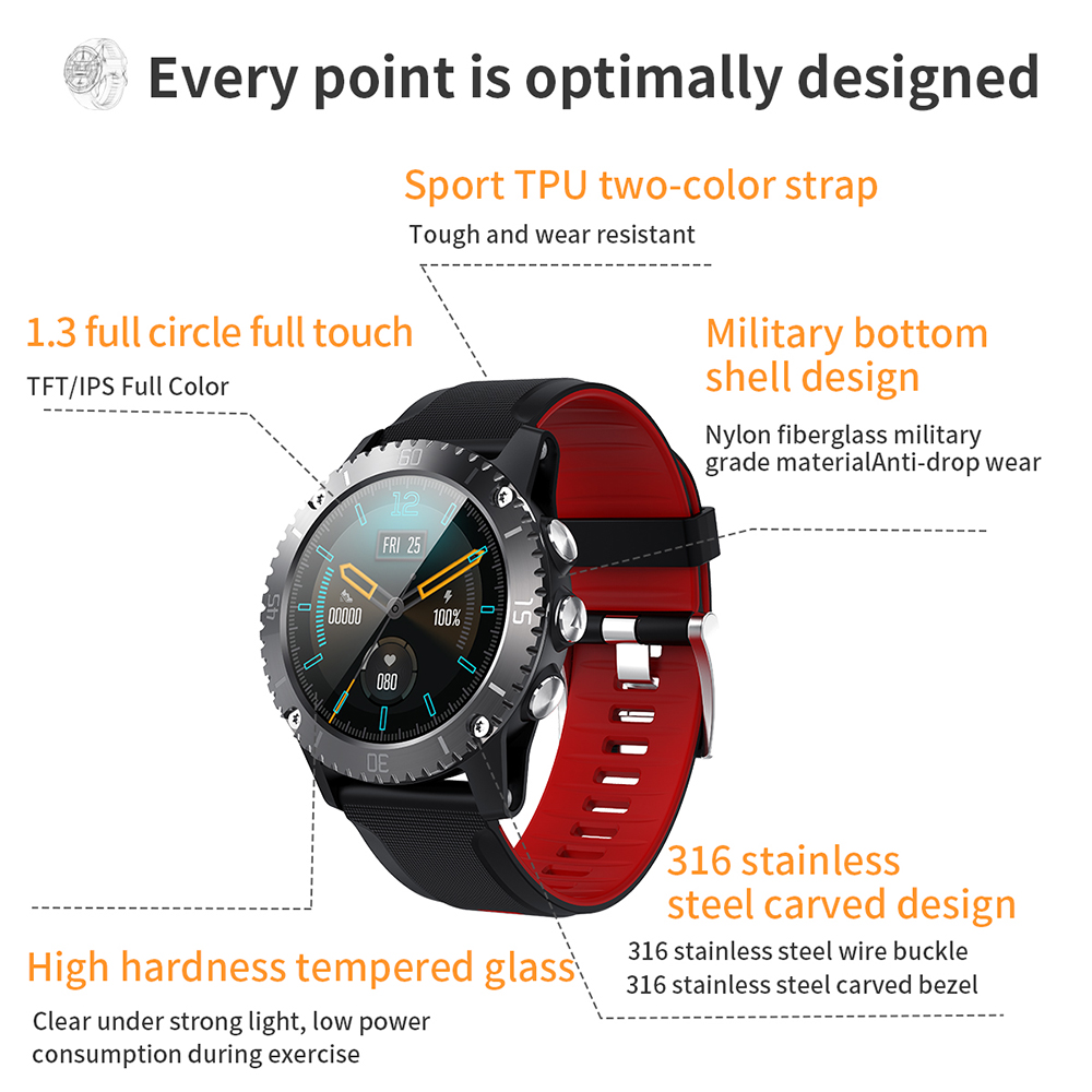 Z1 Sports Smart Watch Men Bluetooth Music Information Push Heart Rate Altitude Pressure Measurement Call Reminder Smartwatch Pakistan