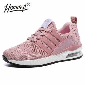 Image 5 - Женские кроссовки, сетчатые, дышащие, Basket Femme, на воздушной подушке, для пары, повседневная обувь, унисекс, Tenis Feminino, размеры 36 45, весна/осень