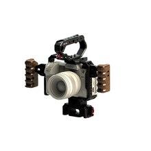 HONTOO S1H CAGE dslr appareil photo pour PANASONIC Lumix S1 S1R S1H caméra manche en bois poignée supérieure 15mm plaque de base