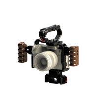 HONTOO S1H kafes dslr kamera rig için PANASONIC Lumix S1 S1R S1H kamera ahşap kolu üst kolu 15mm taban plakası