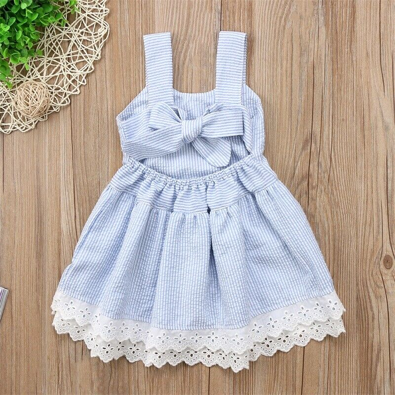 US Princess Toddler Kids Baby Girl Ruffle Lace Dress Formal Party Pageant Dress