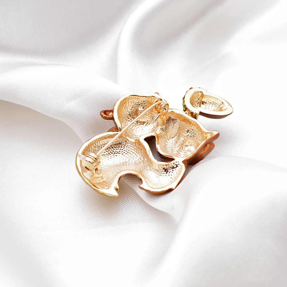 سيندي شيانغ 2 ألوان اختيار المينا السنجاب بروش النساء والرجال للجنسين الحيوان دبوس مجوهرات الأزياء معطف اكسسوارات عالية الجودة