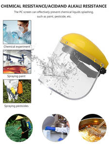 Mask Grass-Cutting Oil-Splash Cooking Kitchen Face-Protective-Screen Dust-Proof PVC