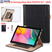 stand case for Samsung Galaxy Tab A 10.1 2019 SM-T510 T510 T515 PU leather cover for Samsung Tab A 2019 10.1 SM-T515 case+gift(China)