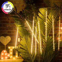 Christmas-Light Meteor Shower Rain-Tube Outdoor Garland Led-String Fairy 30CM Coversage