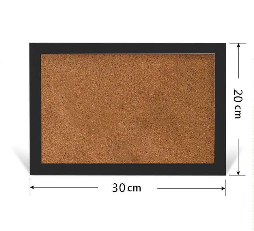 XINDI yeni MDF çerçeve mantar pano mantar 20*30cm bülten mantar pano 5 renkler mesaj panoları ev için ücretsiz kargo